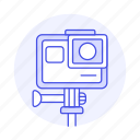 action, cam, camera, gopro, holder, stand, video icon