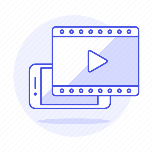 app, button, film, media, mobile, movie, phone, play, player, streaming, video icon