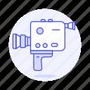 1, analog, camcorder, camera, handheld, old, recorder, retro, video, vintage icon