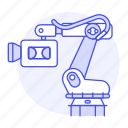 arm, camcorder, camera, mechanical, recorder, robot, video icon