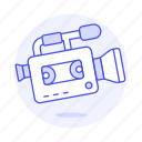 2, camcorder, camera, fashioned, microphone, old, recorder, video, vintage icon