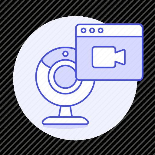 1, app, desktop, live, pc, recorder, streaming, streming, transmission, video, webcam icon