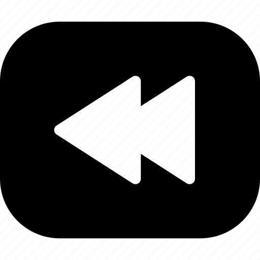 arrow, back, backward, control, previous, video icon