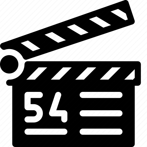 cinema, clapper, film, movie, video icon