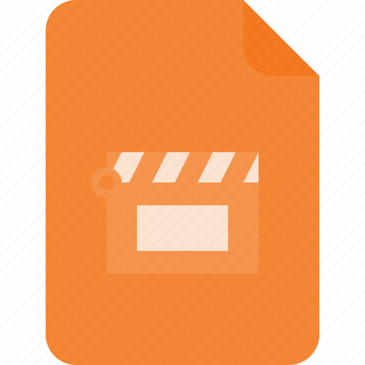 clip, document, file, film, video icon