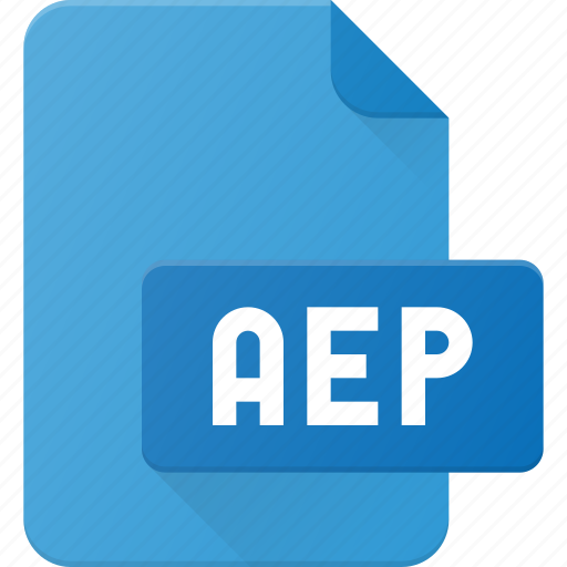 aep, document, file, film, video icon