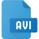 avi, document, file, film, video icon