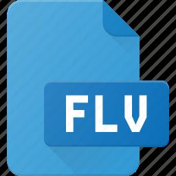 document, file, film, flash, flv, video icon