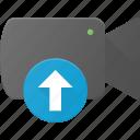 cam, camera, film, movie, record, upload icon