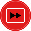 fast, forward, play, video icon