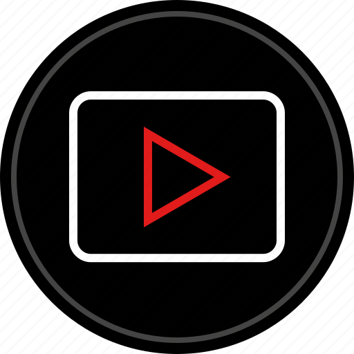 media, video, youtube icon