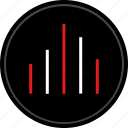 bars, data, graph, navigation icon
