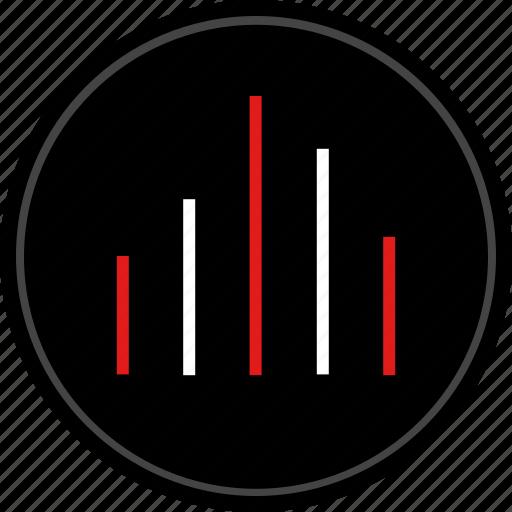 bars, data, graph, navigation icon