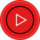 media, music, play, video icon