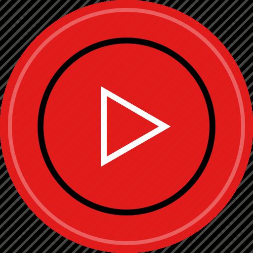 media, music, play, video icon