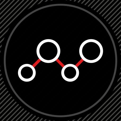 analytics, chart, data, share icon