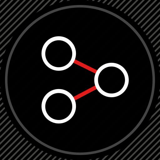 analytics, image, share icon