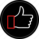 approved, good, thumbs, up icon