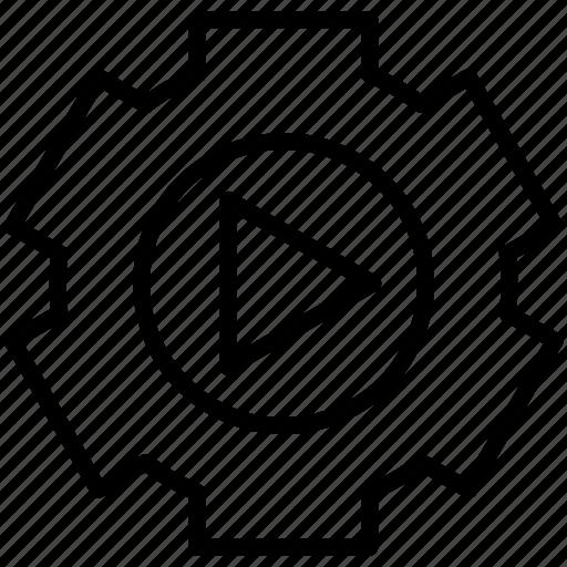 cog, cog wheel, music, setting icon