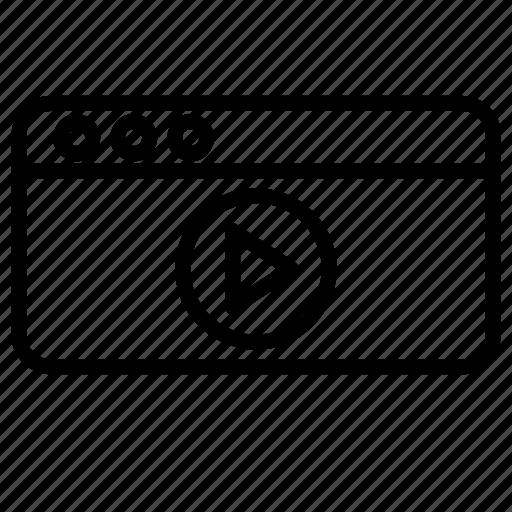 digital, film, media, movie, multimedia, play, video icon