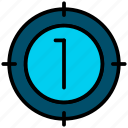 aim, clock, countdown, stopwatch, timer icon