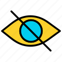 eye, hidden, hide, look icon