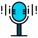 audio, mic, microphone, record, sound icon