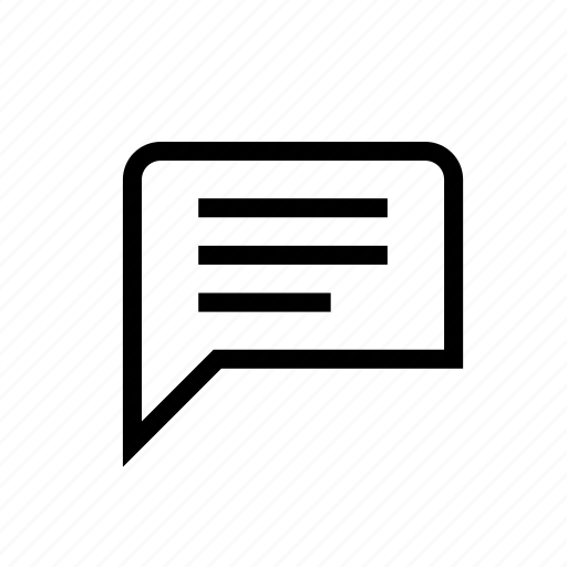 chat, lyrics, subtitles, text, video icon