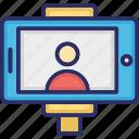 camera selfie, monopod, monopod photo, photography equipment, selfie stick icon