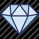 allotrope, carbon alloy, crystal, diamond jewel, gemstone icon