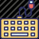 computer keyboard, hardware, input device, keyboard, typing tool icon
