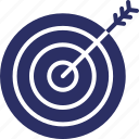 archery, business goal, business target, goal, sales target icon