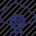 cloud computing, cloud device, cloud hosting, cloud technology, cloud webcam icon