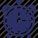 alarm, alarm clock, analog clock, clock, ringing alarm, timepiece icon