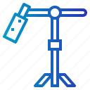 microphone, mic, stand, boom icon