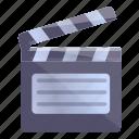 video, editing, clapper