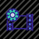 audio, bonding, edit, editing, file, setup, video icon