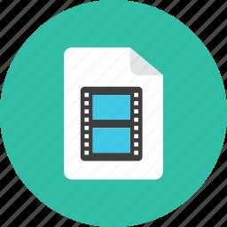 3, file, movie icon