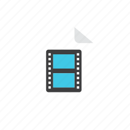 3, file, movie icon