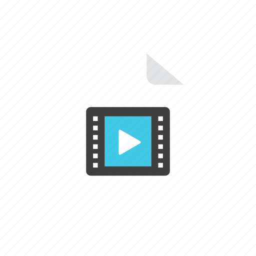 file, movie icon