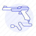 consoles, controller, game, gun, shooter, video, wired icon