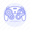 consoles, controller, game, gamecube, gamepad, nintendo, purple, retro, video, vintage icon