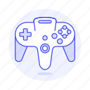consoles, controller, game, gamepad, nintendo, purple, retro, video, vintage icon