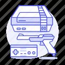video, nintendo, vintage, game, nes, controller, gamepad, shooter, consoles, retro