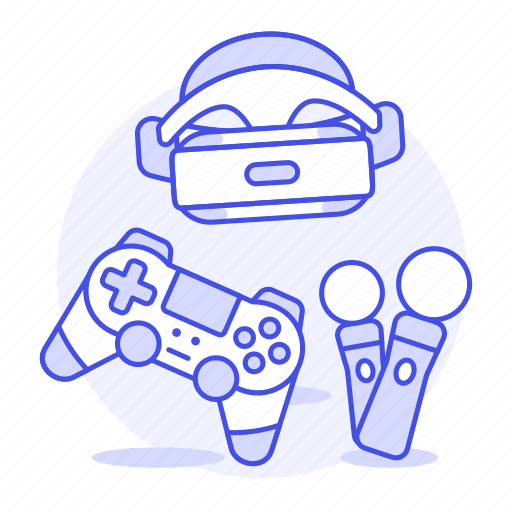 consoles, controller, game, headset, move, playstation, ps4, reality, video, virtual, vr icon