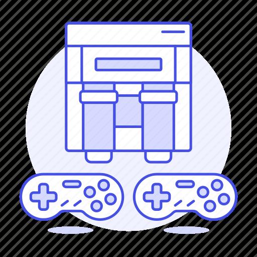 american, consoles, controller, famicom, game, nintendo, snes, super, usa, video icon