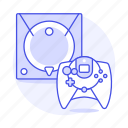 consoles, controller, dreamcast, game, video icon