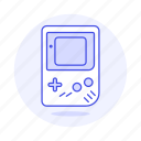 color, consoles, game, gameboy, old, portable, retro, video, vintage icon