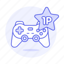1st, badge, competition, egames, esports, game, gamepad, games, medal, player, star, video, winner