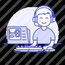 cpu, game, gamer, gaming, half, headset, keyboard, male, mouse, pc, playing, setup, video